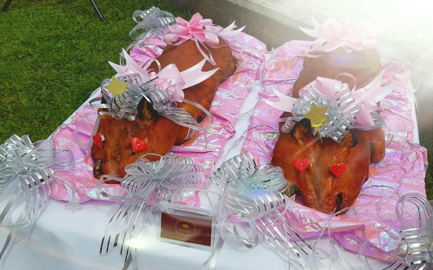 百褔西式婚宴乳豬